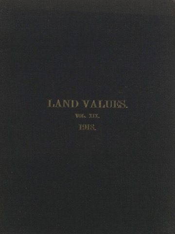 Land Values Vol 19 - 1918