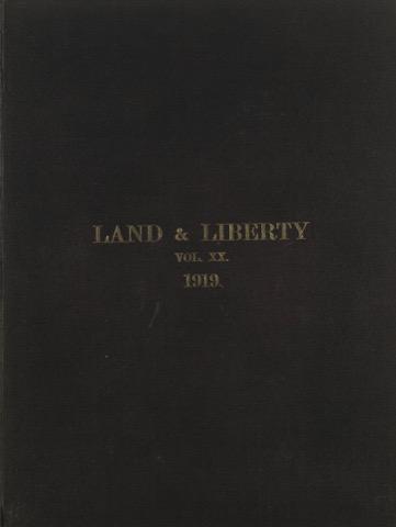 Land and Liberty Vol 20 - 1919