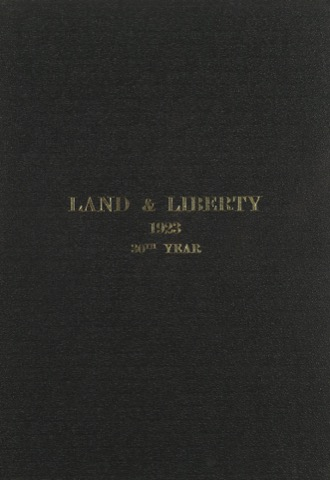 Land and Liberty 1923 - 30th year