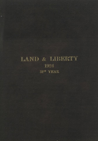 Land and Liberty 1924 - 31st year