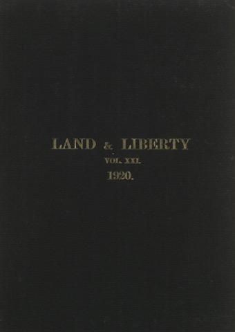 Land and Liberty Vol 21 - 1920