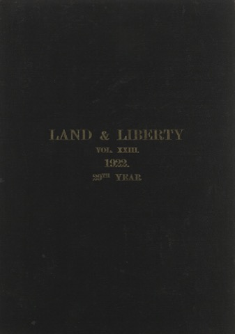 Land and Liberty Vol 23 - 1922 - 29th Year