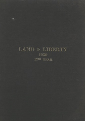 Land and Liberty 1930 - 37th Year
