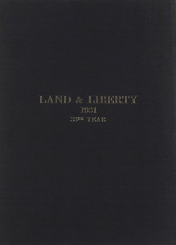 Land and Liberty 1931 - 38th Year