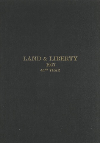 Land and Liberty 1937 - 44th Year