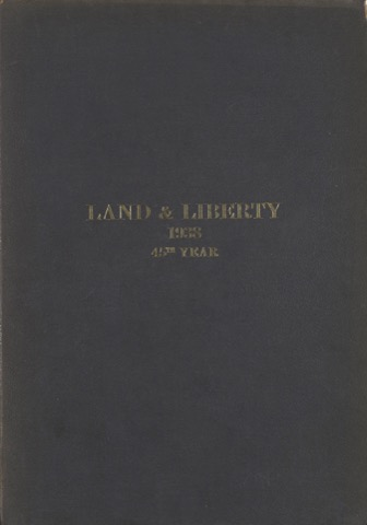 Land and Liberty 1938 - 45th Year