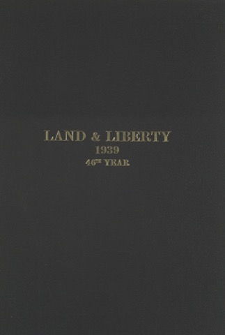 Land and Liberty 1939 - 46th Year