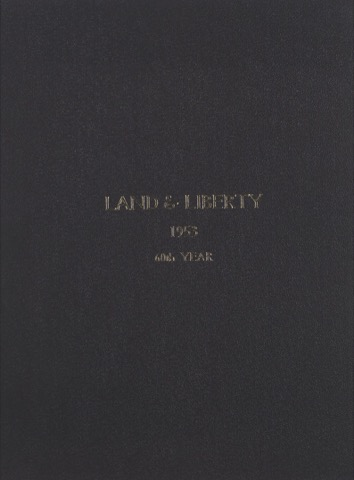 Land and Liberty 1953 - 60th Year