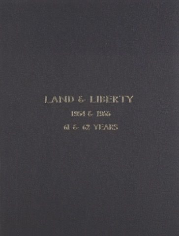 Land and Liberty 1954-1955 - 61st & 62nd Years