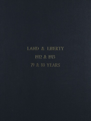 Land and Liberty 1972-1973 - 79th & 80th Years