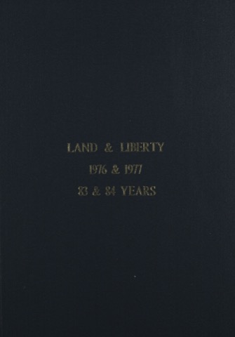 Land and Liberty 1976-1977 - 83rd & 84th Years