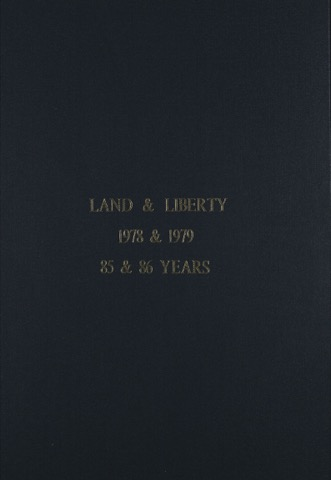 Land and Liberty 1978-1979 - 85th & 86th Years