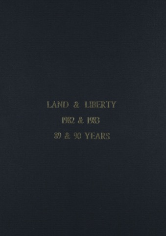 Land and Liberty 1982-1983 - 89th & 90th Years
