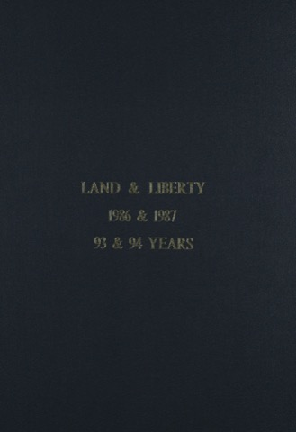 Land and Liberty 1986-1987 - 93rd & 94th Years