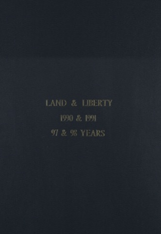 Land and Liberty 1990-1991 - 97th & 98th Years
