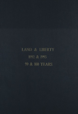 Land and Liberty 1992-1993 - 99th & 100th Years