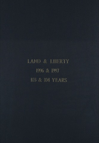 Land and Liberty 1996-1997 - 103rd & 104th Years