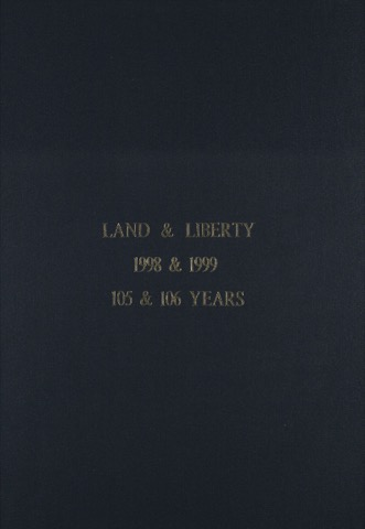 Land and Liberty 1998-1999 - 105 & 106 Years